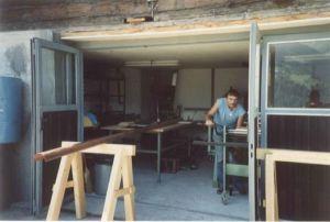 Werkstatt bei Wohnhaus