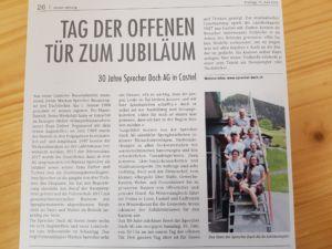 Bericht Schanfiggerzeitung