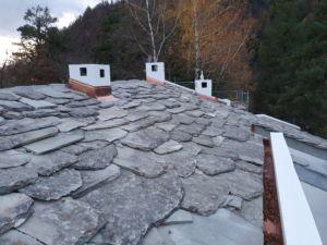 Steinplattendach
